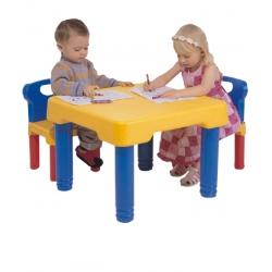 Mesita de actividades para ni os ni as con sillas - Mesita con sillas infantiles ...