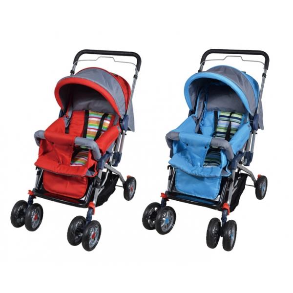 Carriola Baby Stroller Color Rojo y Azul Facil Plegado