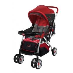 Carriola Baby Stroller Roja Facil Plegado Toldo Ajustable