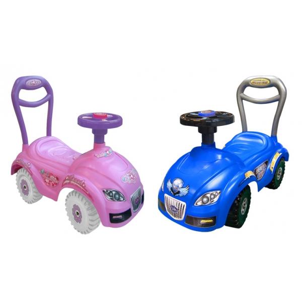 Carrito Montable Herbi Car Color Azul y Rosa Sonido en Claxon