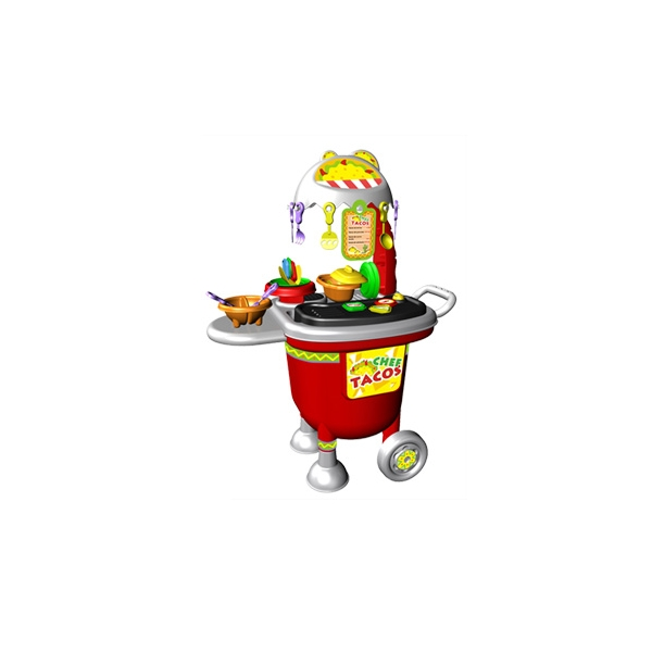 Asador Infantil Taco Chef 23 Accesorios Facil de Trasladar