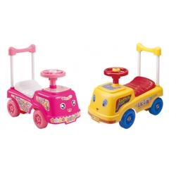 Carrito Montable Walking Rosa y Amarrillo Sonido en Claxon