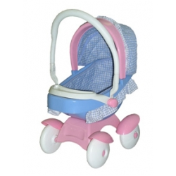 Carriola 2 en 1 Doll Stroller Azul con Rosa Manija Reversible