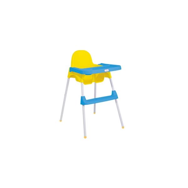 Silla Bebe High Chair Color Amarillo con Azul