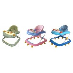 Andadera Baby Walker Color Rosa Azul y Verde Musical