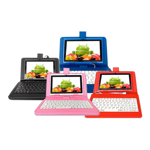 Funda teclado tablet de 7 pulgadas micro usb varios colores e tronic shop el sitio mas - Fundas de tablet de 7 pulgadas ...