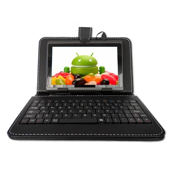 Funda con teclado tablet de 7 pulgadas usb color negro e tronic shop el sitio mas confiable - Funda tablet con teclado 7 ...