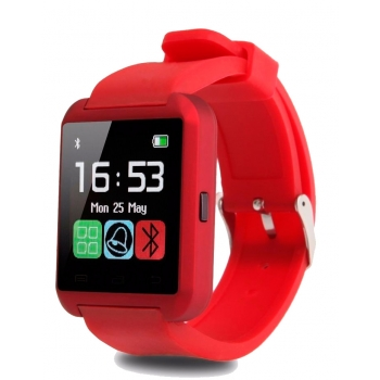 Smartwatch U8 Bluetooth Iphone Android Rojo