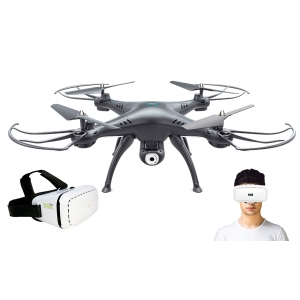 DRONE OPERADO CON LENTES REALIDAD VIRTUAL VIDEO TIEMPO REAL