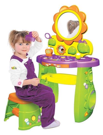 Tocador de juguete para ni as con 22 accesorios musica y - Hacer tocador para nina ...
